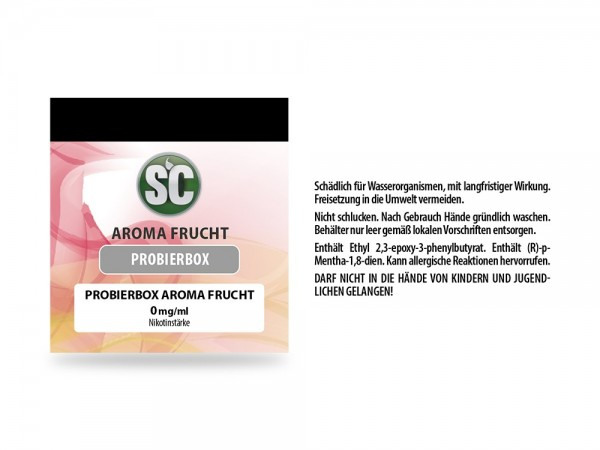 Fruit Probierbox E-Zigaretten Liquid 10er Packung
