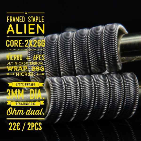 Tasty Ohm Framed Staple Alien
