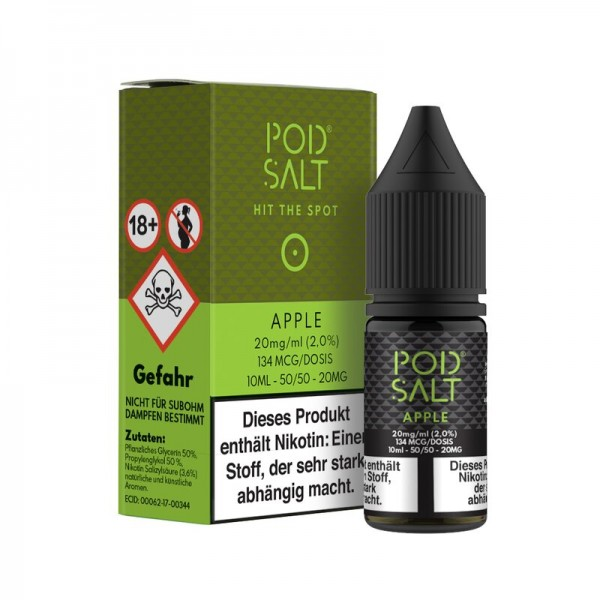 Pod Salt Apple 10ml 20mg Liquid
