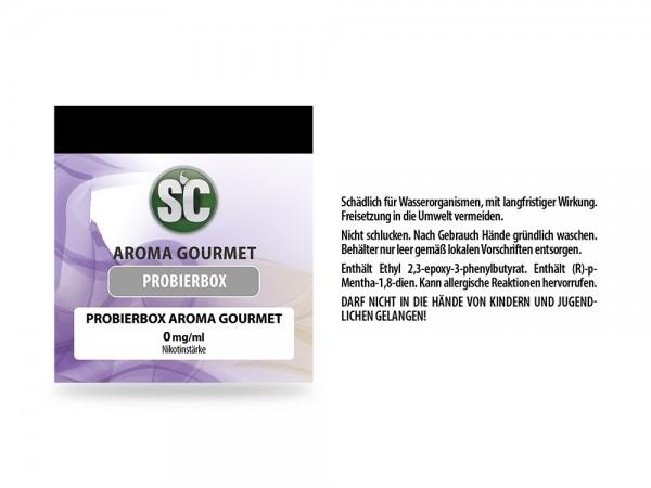 Gourmet Probierbox SC 10x10ml E-Zigaretten Premium Liquid (1,87€ / 10ml)